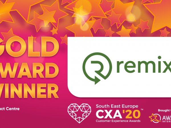 Remix отличен със злато на South East European Customer Experience Awards